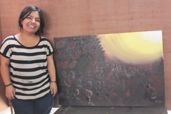 kreetika-pradhan-artist-with-painting-2