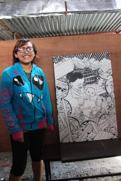mrigaja-bajracharya-artist-with-painting-1