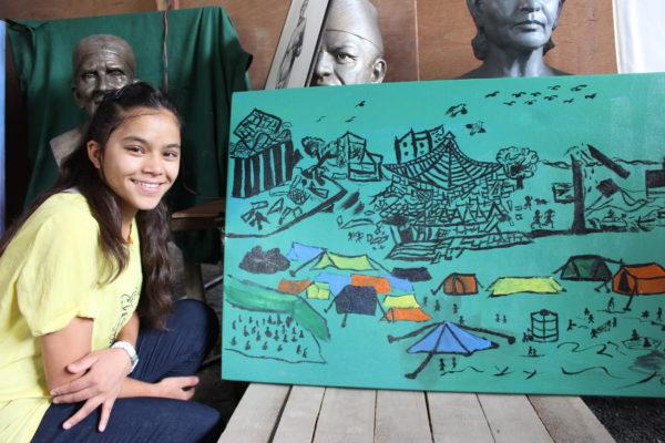 rebina-shahi-artist-with-painting-1